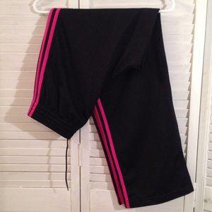 Adidas M Black Pink Stripe Track Sweat Pants